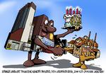 Auch große Unternehmen bedienen sich gerne des Karikaturisten Uwe Herrmann.